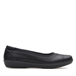 Clarks Ayla Low Black Womens Shoes